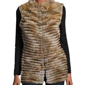 Rex rabbit real fur vest